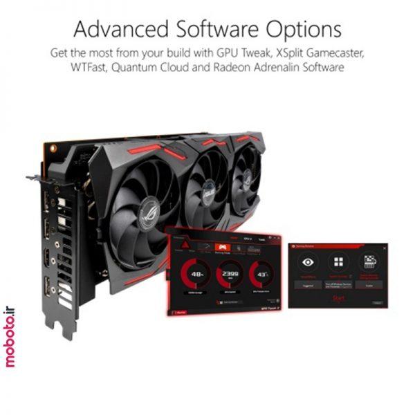 asus rog strix amd radeon rx 5700xt 8g gaming graphics card4 کارت گرافیک ایسوس ASUS ROG Strix AMD Radeon RX 5700XT 8G