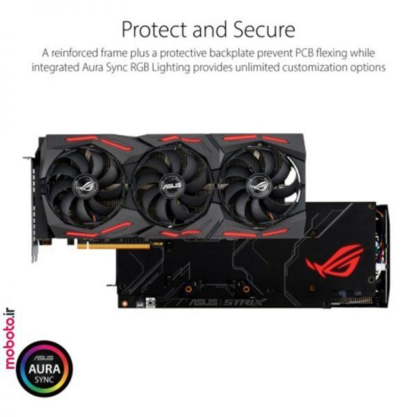 asus rog strix amd radeon rx 5700xt 8g gaming graphics card5 کارت گرافیک ایسوس ASUS ROG Strix AMD Radeon RX 5700XT 8G