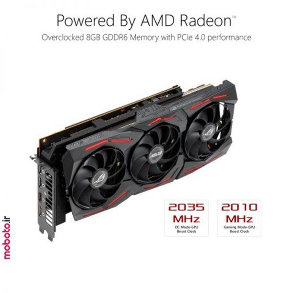 asus rog strix amd radeon rx 5700xt 8g gaming graphics card6 کارت گرافیک ایسوس ASUS ROG Strix AMD Radeon RX 5700XT 8G