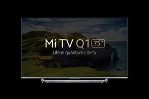 """xiaomi mi tv q1 75 smart tv front view تلویزیون شیائومی Mi TV Q1 75"""""""