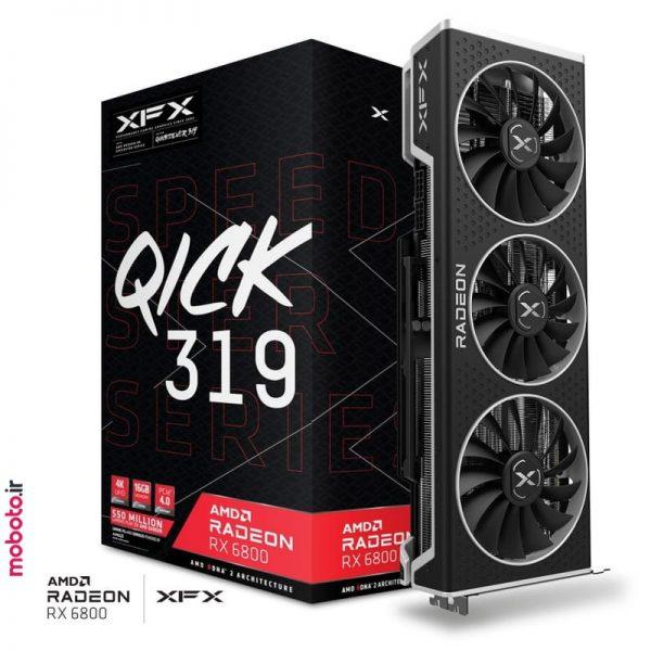 xfx speedster qick 319 amd radeon rx 6800 black gaming pic2 کارت گرافیک XFX Speedster QICK 319 AMD Radeon RX 6800 BLACK Gaming