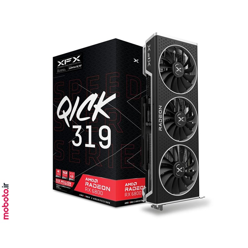 xfx speedster qick 319 amd radeon rx 6800 black gaming صفحه اصلی المنتور